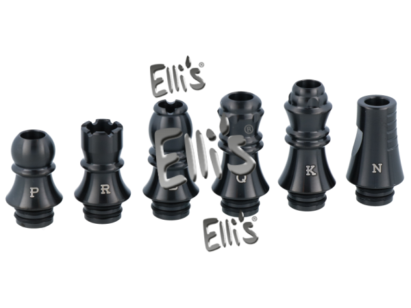 Chess Series Drip Tips 6in1 schwarz